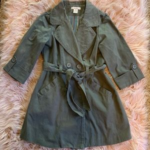 Forever XXI Olive Trench Coat Size M